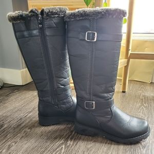 Shoes - Faux Fur Trim Boots